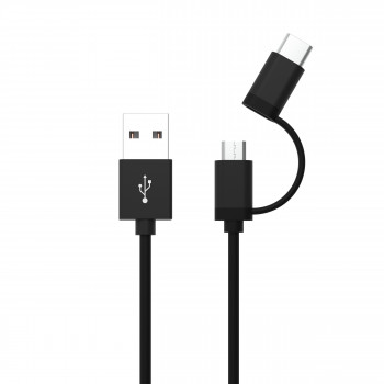 USB 2in1 Micro / Type-C Data and Charging Cable 120 cm