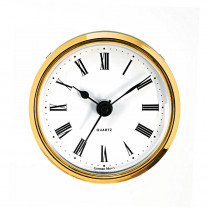 Insertion movement Hermle drum dia. 57mm, bezel dia. 66mm yellow, dial antique white