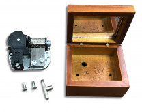 Wooden case for musical movement