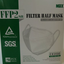 Protective mask according to DIN EN 149: 2001 + A1.2009, CE mark