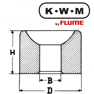 KWM-press-fit bearings brass L10, hole Ø 0.60 outside Ø 1.80 height 1.40 mm, capacity 20.00 Unit