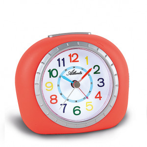 Atlanta 1966/1 red quartz alarm clock, sweeping second