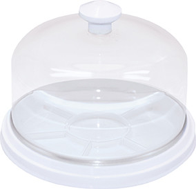 Dust cover dome and tray