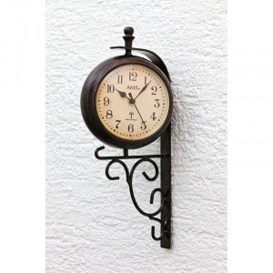 """AMS RC Wall Clock """"Siesta"""" with additional tempera"""