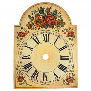 Clock plate with flower decoration 75x115mm