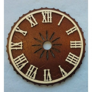 Dial brown wood with Roman numerals for cuckoo clock Ø: 60mm