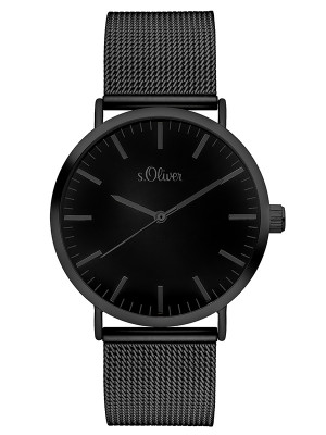 s.Oliver watch strap stainless steel black SO-3216-MQ
