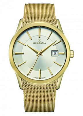 Delbana watch Oxford stainless steel/ yellow gold IPG Swiss made