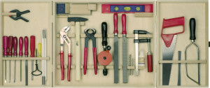 Professional tool cabinet, 30 pieces
