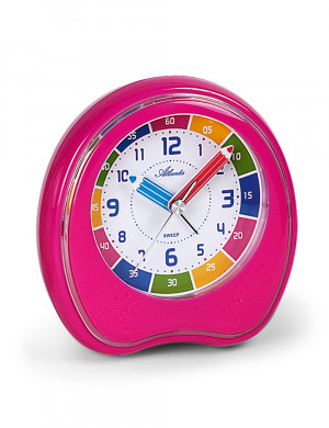 Atlanta 1953/17 Learning alarm clock Quartz Melodie pink