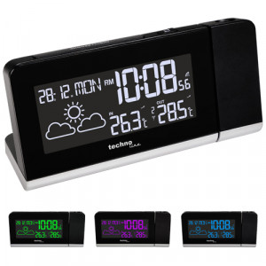 TECHNOLINE radio-controlled projection alarm clock with outdoor temperature sensor