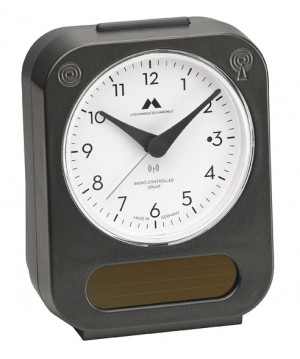 Radio controlled solar alarm clock Made in Germany