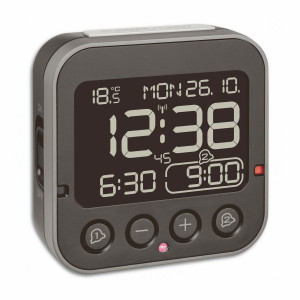 TFA radio controlled alarm clock BINGO 2.0 - inverted display