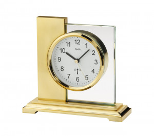 AMS Radio controlled clock Linz, golden plated