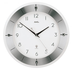 AMS Radio controlled wall clock Tauplitz I, light dial