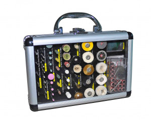 Tool case - polishing, grinding, cutting - 100 pieces
