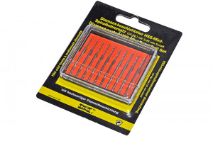 10-piece mini drill set, diamond coating