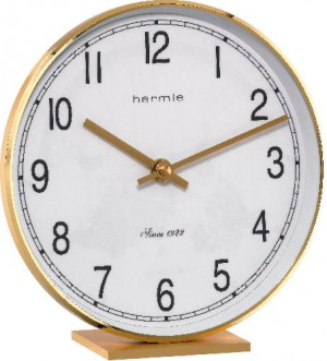 HERMLE carriage clock/ table clock, brass