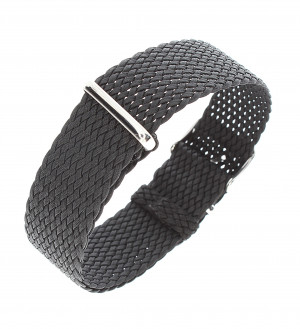 Nato perlon strap black 20mm