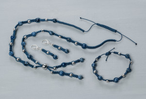 Handcraft jewellery set Sodalith