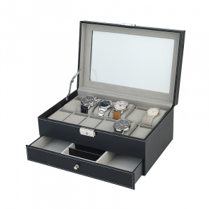 Watch and jewellery box for 12 watches