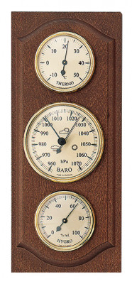 Weather station Made in Germany, nutwood