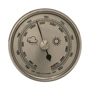 Barometer build-in weather instrument Ø 85mm, silver