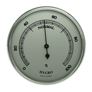 Hygrometer build-in weather instrument Ø 85mm, silver