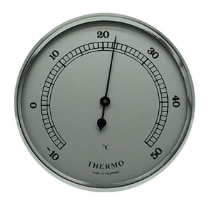Thermometer build-in weather instrument Ø 85mm, silver