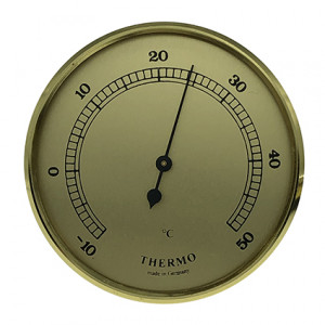 Thermometer build-in weather instrument Ø 65mm, gold