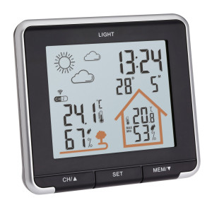 Radio controlled weather station LIFE black