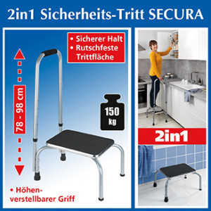 SECURA 2-in-1 safety step