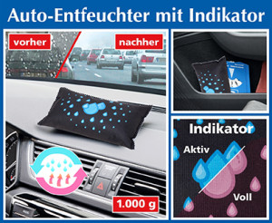 Car dehumidifier with indicator, set of 2