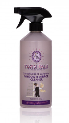 Mr Town Talk glass cleaner, Sandalwood and Lavender 620ml