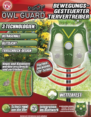 Owl Guard - motion controlled animal repeller