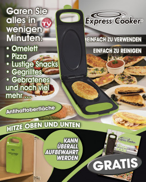 Express Cooker Multigrill for the Kitchen - Green