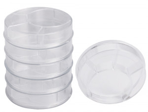 Assortment of work trays, stackable, 6 pcs.