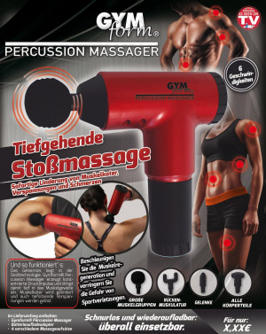 Gymform Percussion Massage - relieves sore muscles, tension and pain