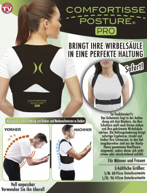 Comfortisse Posture PRO - brings your spine into perfect posture (size S / M)