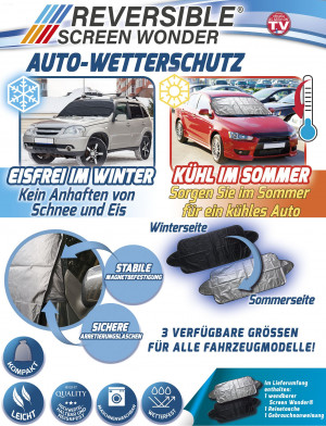 Car protection mat - ice-free in winter - cool in summer - size 180x120cm