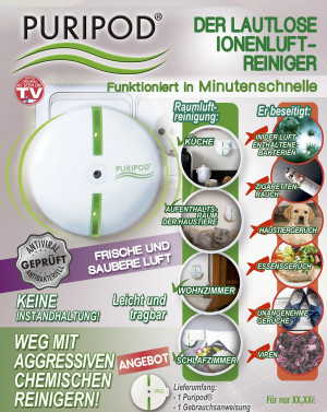 Air cleaner for 20m², 64W, soundless