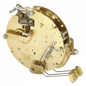 Table clock movement Hermle 130-020, 8 days, floating balance, stroke on gong