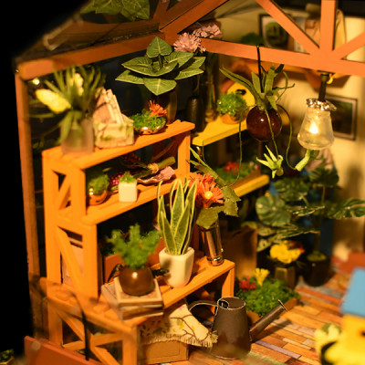 ROLIFE Miniature Greenhouse Kit for Cathy's Flower House