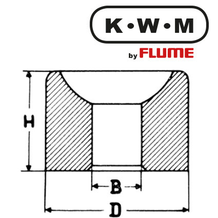 KWM-Bushes Brass L37, B 1,0-H 1,9-D 1,82 mm