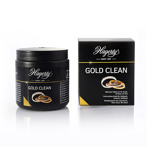 Immersion bath Gold Clean with microfibre cloth (120 x 120 mm) Hagerty 170ml