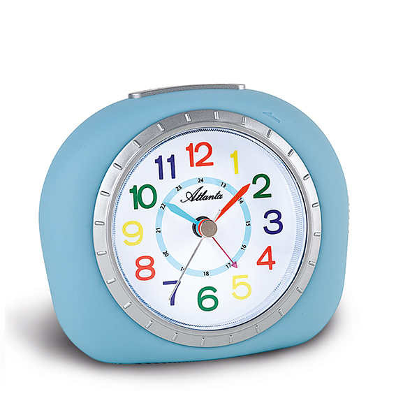 Atlanta 1966/5 blue quartz alarm clock, sweeping second
