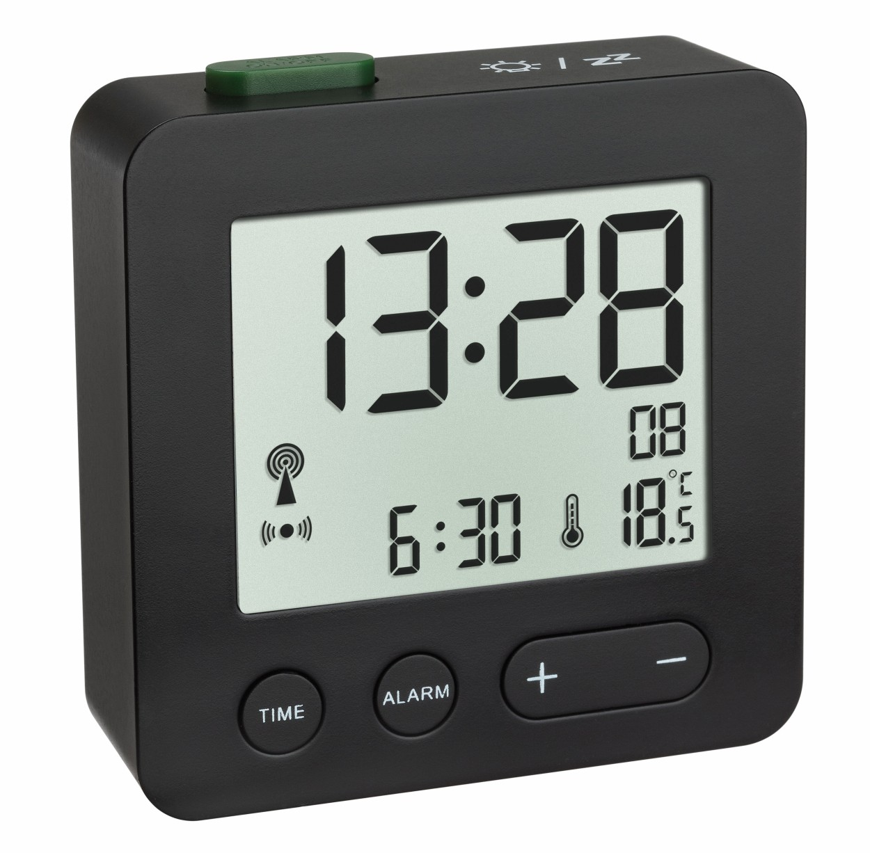 TFA Radio controlled alarm clock with temperature