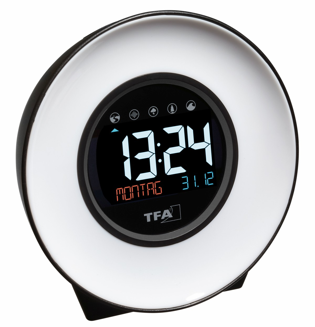 TFA light alarm clock with nature sounds and changing mood light