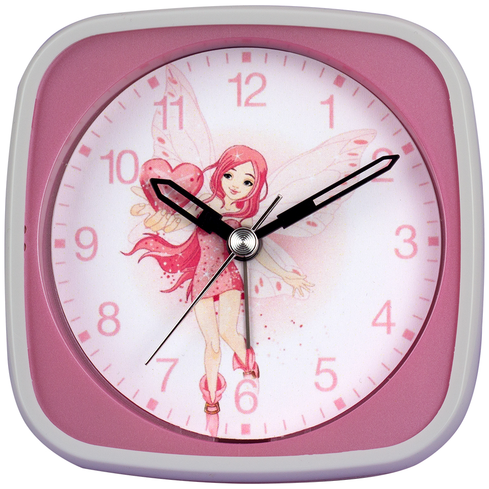 Children's Alarm Clock fairy with Heart, sweeping second