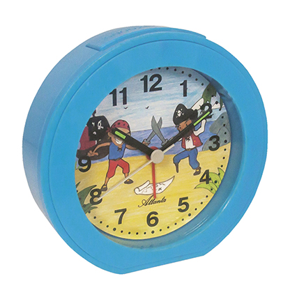 Atlanta 1998/5 Alarm clock quartz blue, for children